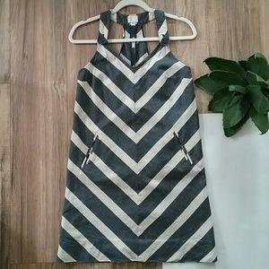 Postmark   striped linen mini dress   blue/cream 2